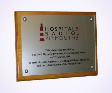 Cast Acrylic Commemorative Wall Plaque