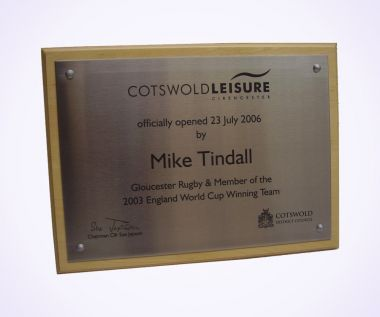 Lasered Steel Commemorative Wall Plaque