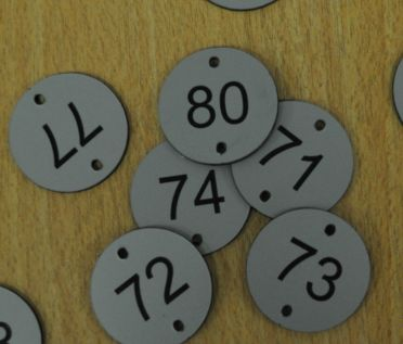 Aluminium Effect Table Numbers  - 50mm