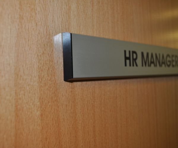 Aluminium door signs office signs brunel engraving - Glass office door signs ...