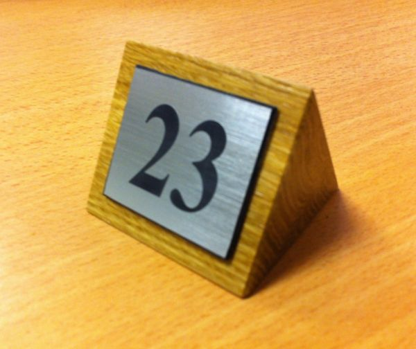 Mahogany Table Numbers Bar Signs Hotel Signs Pub
