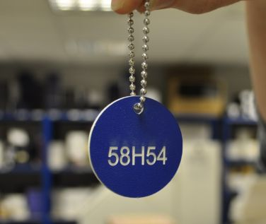 Textured Acrylic Valve and Tag Labels - 30mm Diameter