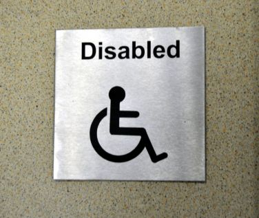 St/Steel Disabled Sign
