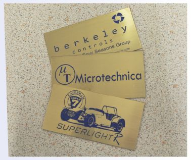 Etched Brass Labels 100mm x 50mm