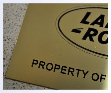 Etched Brass Labels 125mm x 75mm