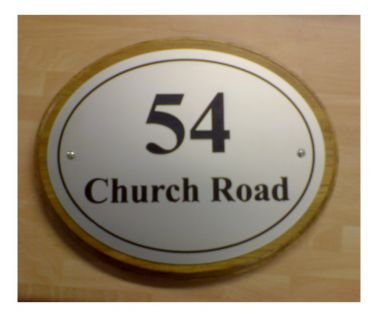 Aluminium House Nameplate