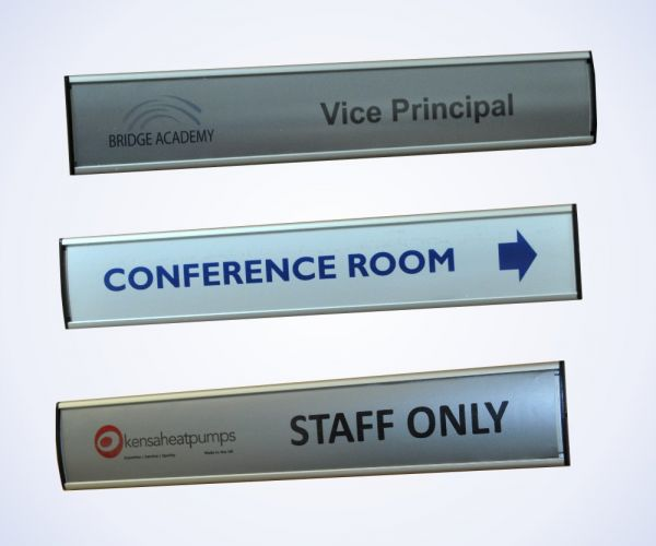Aluminium Slatz Insertz Door Signs