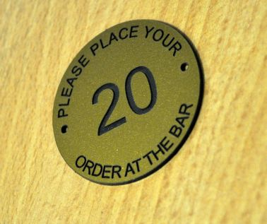 Brass Effect Table Numbers - 50mm