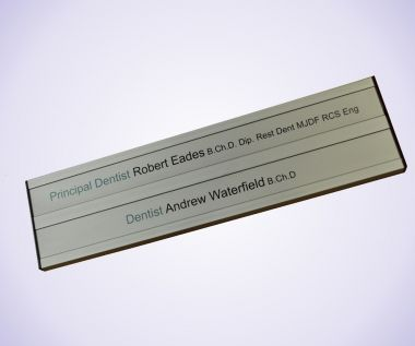 Twin Aluminium Door Sign
