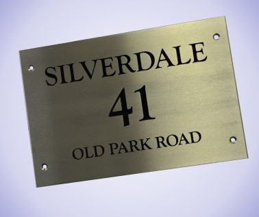 Stainless Steel House Nameplate