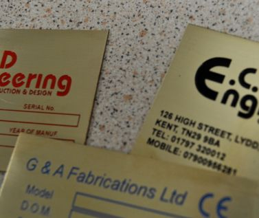 Etched Brass Labels 75mm x 50mm