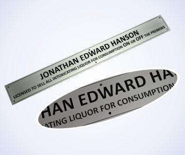Aluminium Licensee Plate