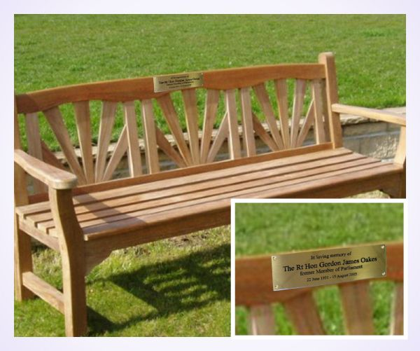 brass bench plaque