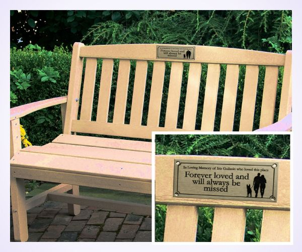 ststeel bench plaque