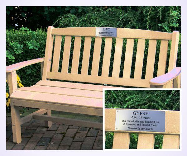 aluminium bench plaque