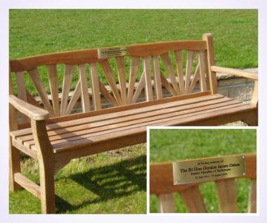 Brass Memorial Bench Plaque Brunel Engraving