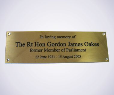 Brass Memorial Bench Plaque
