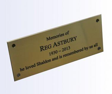 Brass Memorial Bench Plaque