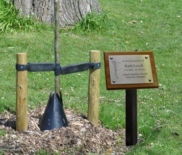Stainless Steel Memorial Tree Plaque