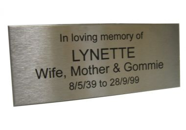 Lasered Stainless Steel Memorial Wall Plaque