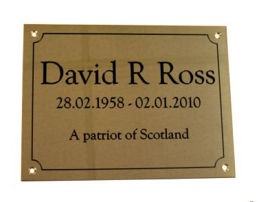 Brass Memorial Wall Plaque