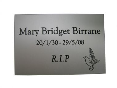 Aluminium Memorial Wall Plaque