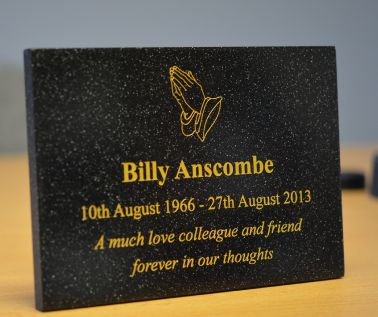 Quartz Effect Memorial Wall Plaque