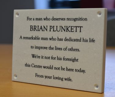 Marble Effect Memorial Wall Plaque
