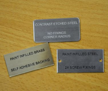 Brass and Steel Sample Label Pack