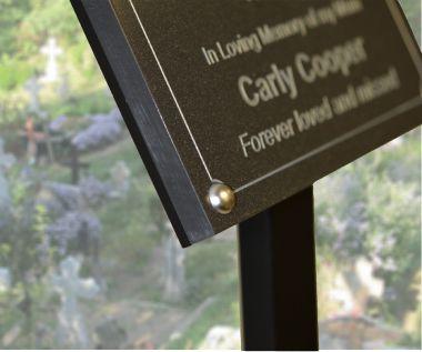 Granite Effect Memorial Tree Plaque