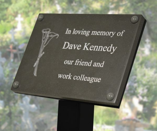 Slate Effect Memorial Tree Plaque Brunel Engraving