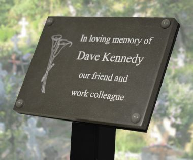 Slate Effect Memorial Tree Plaque