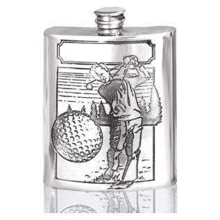 Pewter Hip Flask + Golf Design SF206