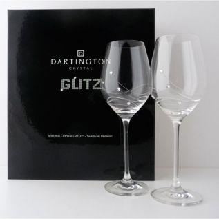 Glitz Goblet Wine Glasses  - Dartington Glitz (Pairs)