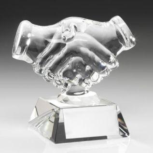Glass Handshake Award JR19-JB500