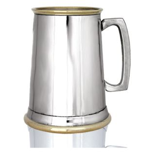 Plain Brass Lip & Base Tankard EP150