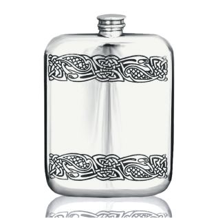 6oz Stampled Hip Flask CEL178