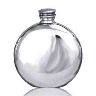 Round Plain Hip Flask FL2