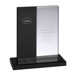 Crystal Award with Black Marble Trophy Base AC86