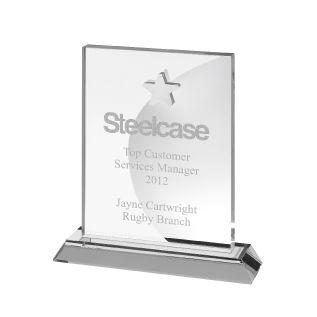 Engraved Crystal Star Trophy AC126