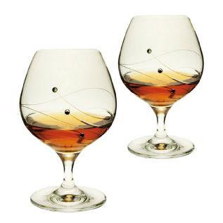 Engraved Brandy Glasses - Dartington Glitz (Pair)