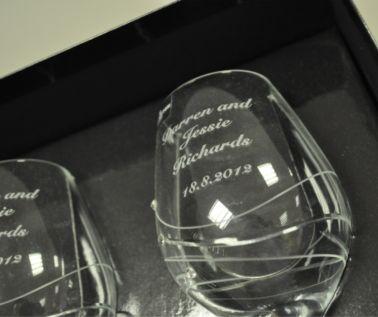 Engraved Wine Glasses - Dartington Glitz (Pairs)