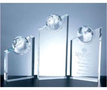 Crystal Globe Award Trophy C58