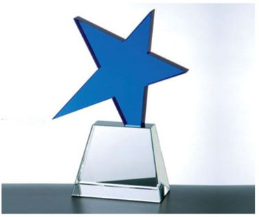 Engraved Crystal Star Awards C366BL