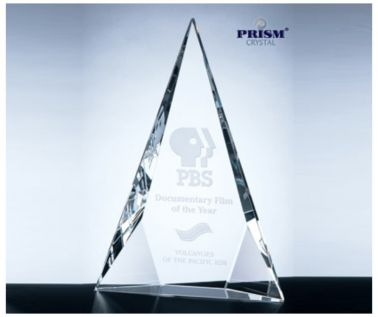 Triangular Crystal Trophy Award C322