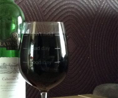 Engraved Novelty Wine Glass - 'Don't Ask'