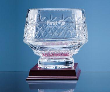 Lead Crystal Panelled Heeled Bowl