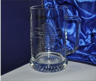 Engraved Novelty Tankard - The Lager Lovers Prayer
