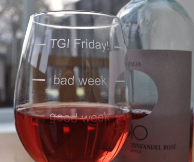 Engraved Novelty Wine Glass 'TGI Friday'