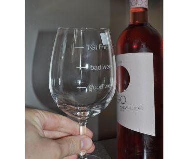 Engraved Novelty Wine Glass 'TGI Friday'